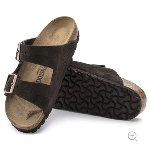 Birkenstock Arizona Suede Leather Mocha Brown